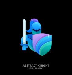 abstract knight colorful template vector image