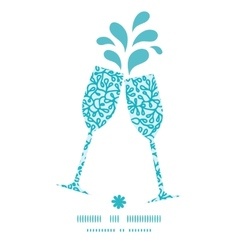 Abstract underwater plants toasting wine glasses vector
