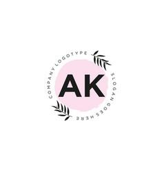 Ak letter logo icon design template elements vector