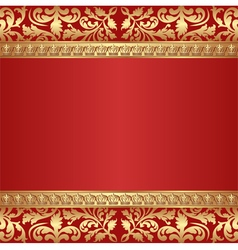 Antique background with crowns border vector