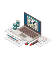 Architect work place vector