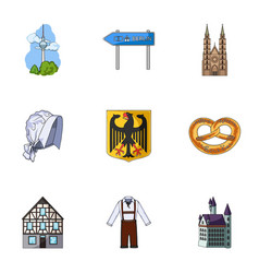 architecture nature tourism and other web icon vector image