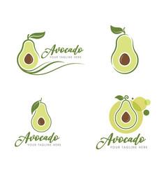 Avocado icon design vector
