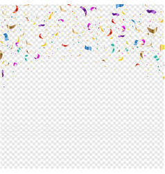 background with falling confetti transparent vector image