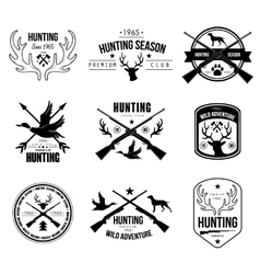 badges labels logo design elements hunting vector image