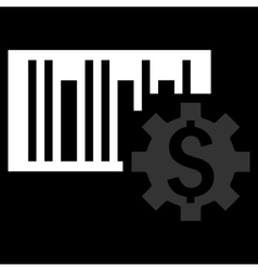 Barcode Price Setup Flat Icon vector image