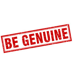 Be genuine square stamp vector