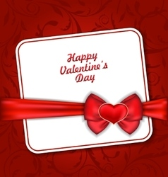 Beautiful Greeting Card for Valentines Day vector image