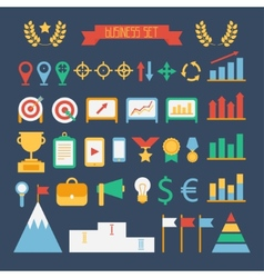 Business and finance infographic design elements vector image