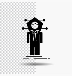 Business connection human network solution glyph vector