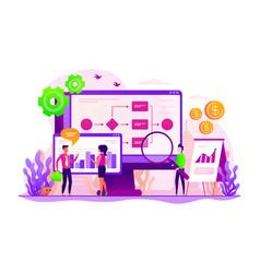 Business process automation concept vector