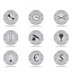 buttons office vector image