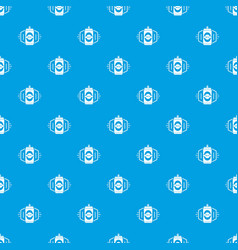 can beer pattern seamless blue vector image