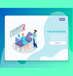 Cancer control landing page vector
