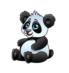 cartoon panda isolated vector image