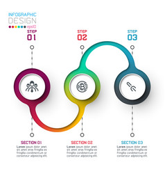 circle label infographic with step steps vector image