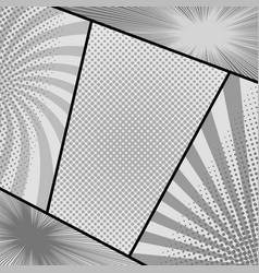 Comic page monochrome composition vector