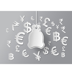 concept of money vector image vector image