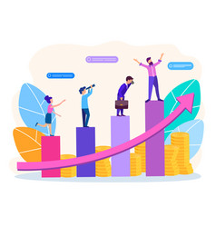 concept of revenue and career growth vector image
