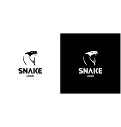 Cool and attractive snake logo design vector