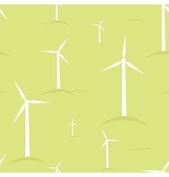Ecological modern windmills seamless pattern vector image