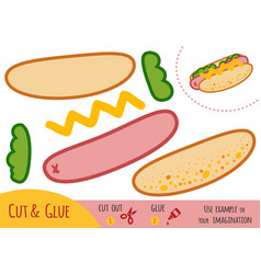 education paper game for children hot dog vector image