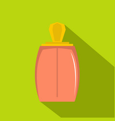 Elegant woman perfume bottle icon flat style vector
