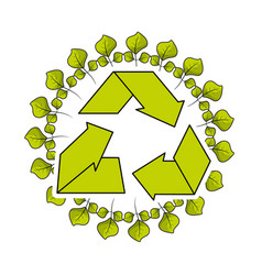 Environment symbol to care of earth planet ecology vector