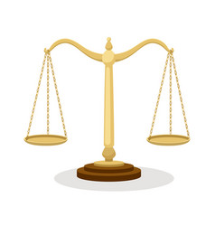 equilibrium scales standing balance judicial vector image