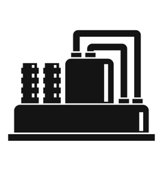 Equipment for production oil icon simple style vector
