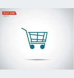 flat shopping cart icon logo design vector image
