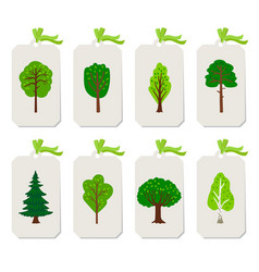 forest tree tags vector image
