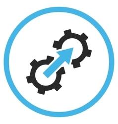 Gear Integration Flat Icon vector