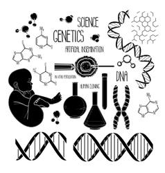 Genetic research set vector