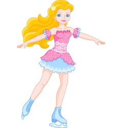 Girl on ice skates vector image