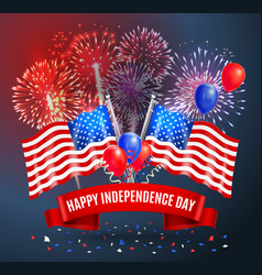 Happy independence day festive poster vector