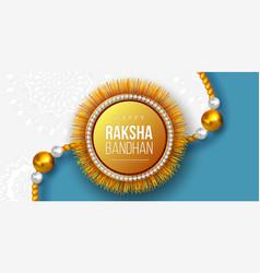 Happy raksha bandhan festival design vector