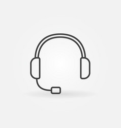 headset outline icon - customer service vector image