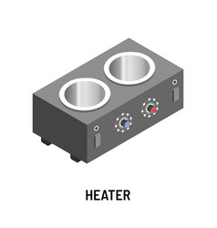 Heater isolated object heating device with vector