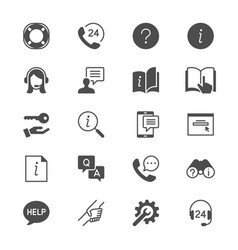 help and support flat icons vector image
