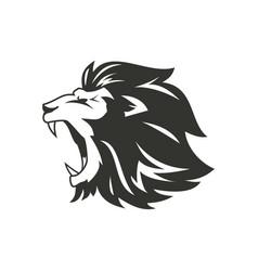 heraldic lion silhouette vector image
