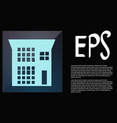 Icon house building in flat style vector