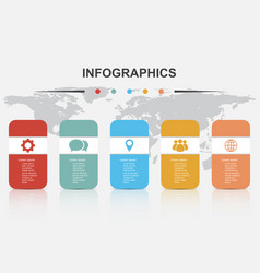 Infographic design template with 5 options vector
