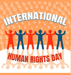 International human rights day concept background vector