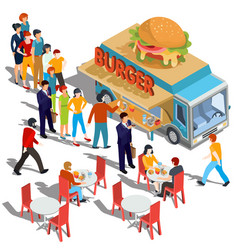 Isometric people order and buy vector