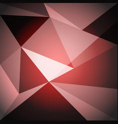 low poly design element on red gradient background vector image
