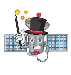 Magician satelite mascot cartoon style vector