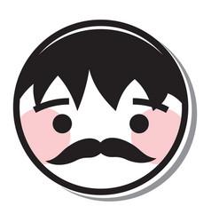 man round icon vector image