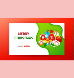 merry christmas landing page vector image