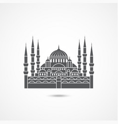 Mosque in istanbul turkey vector
